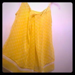 Yellow print tank top